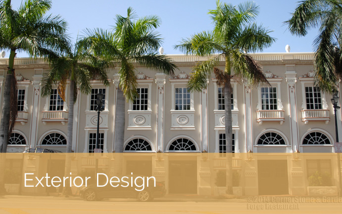 Cornerstone and garden project category concrete for Online exterior design services